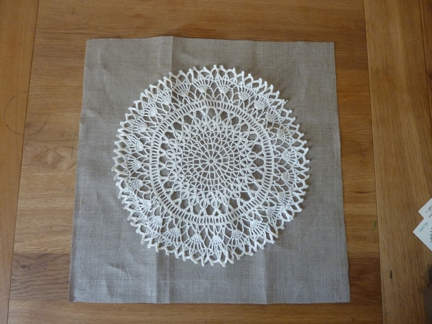 doily cushion background